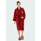9 3/4 Harry Potter Ladies Burgandy Fleece Robe No Hood