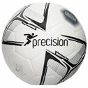 Precision Rotario Match Football White/Black/Silver Size 4