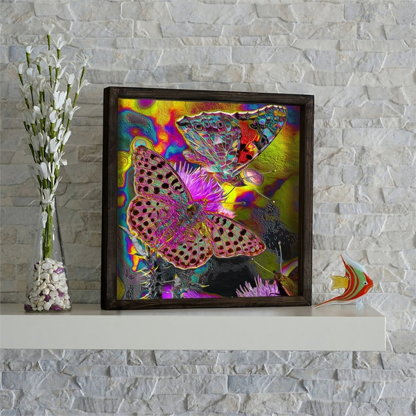 KZM473 Multicolor Decorative Framed MDF Painting
