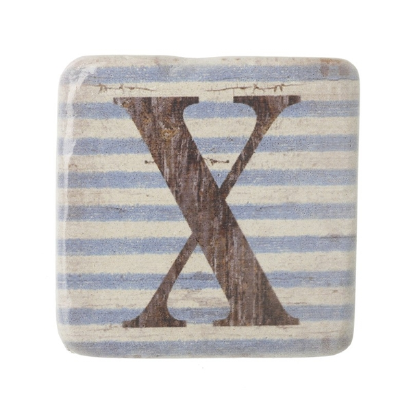Letter X Coasters By Heaven Sends