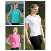 Precision Ladies S/Sleeve Running Shirt Junior