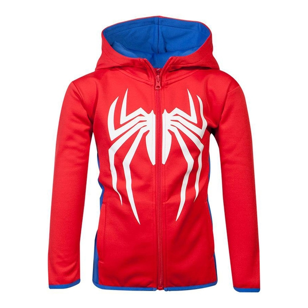 Marvel Comics - Spider-man Logo Teq Kid's Unisex Full Length Zipper Hoodie (Red/Blue)