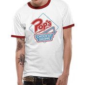 Riverdale - Pops Retro Men's XX-Large Baseball Shirt - White