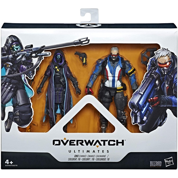 Overwatch Ultimates 2 Pack Shrike Ana & Soldier 76 Action Figure Set