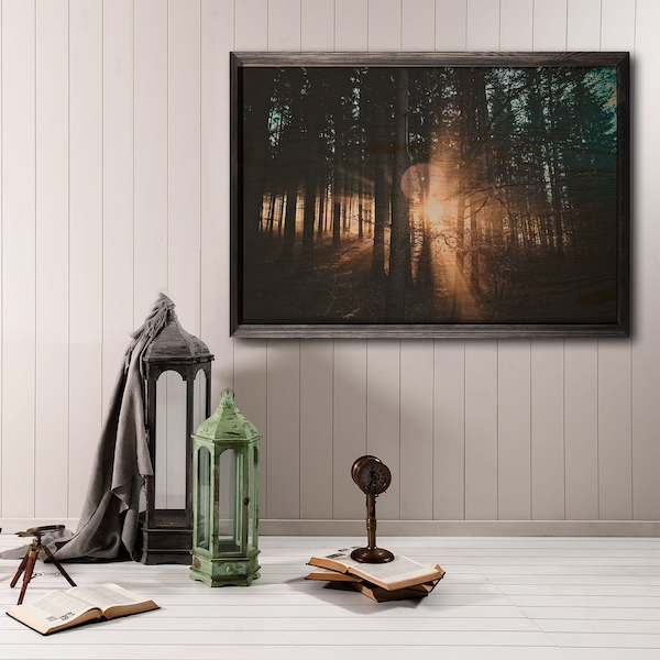 Forest XL Multicolor Decorative Framed Wooden Painting