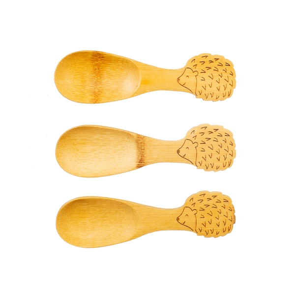 Sass & Belle Bamboo Hedgehog Spoons - Set of 3