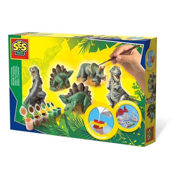 SES Creative - Children's Dinosaurs Casting and Painting Set (Multi-colour)