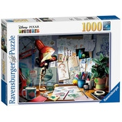 Ex-Display Ravensburger Disney Pixar The Artist's Desk 1000 Piece Jigsaw Puzzle Used - Like New