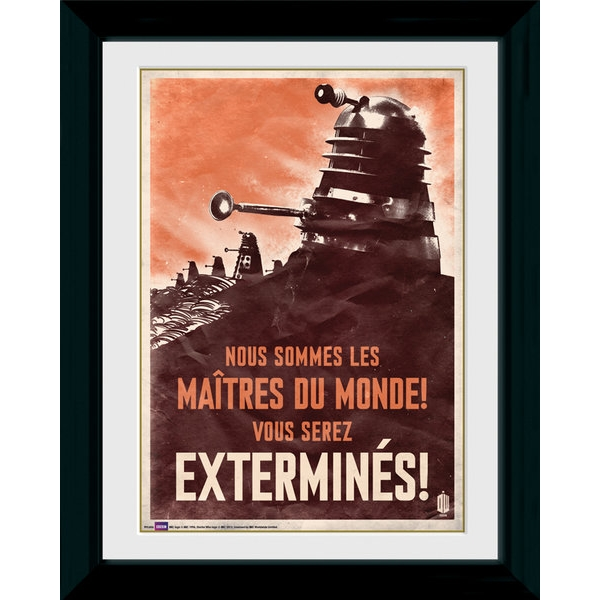 Doctor Who Daleks Exterminate Framed Photographic Print
