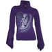 Spirit Wings Women's Small High Neck Long Sleeve Goth Top - Purple - Image 2