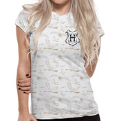 Harry Potter - Hedwig Pattern Sublimated Women's Small T-Shirt - White