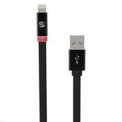 Scosche flatOUT LED 0.9m USB A Lightning Black mobile phone cable