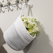 Hanging Cotton Rope Basket | M&W White with Black Thread - Image 2