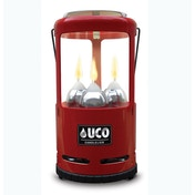 UCO 9 Hour 3 Candle Candlelier Lantern - Red