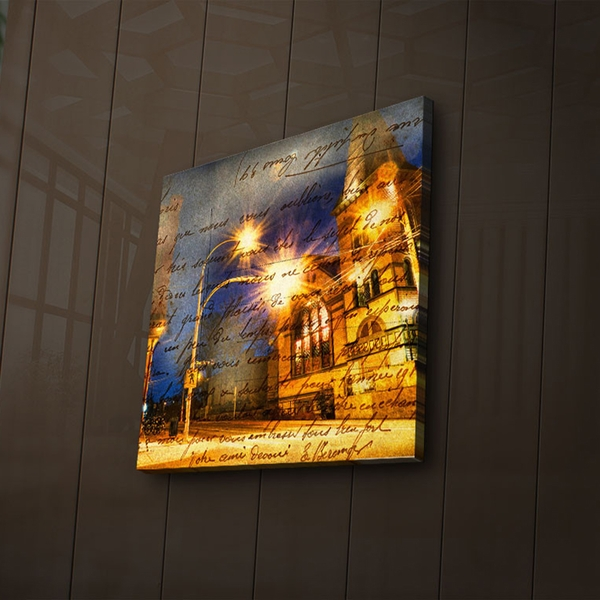 4040?ACT-30 Multicolor Decorative Led Lighted Canvas Painting