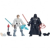 Ex-Display Luke Skywalker vs. Darth Vader (Star Wars) Hero Mashers Figures Used - Like New