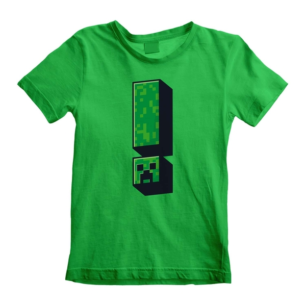 Minecraft - Creeper Exclamation Unisex 5-6 Years T-Shirt - Green