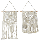 Set of 2 Macrame Wall Hangings | M&W