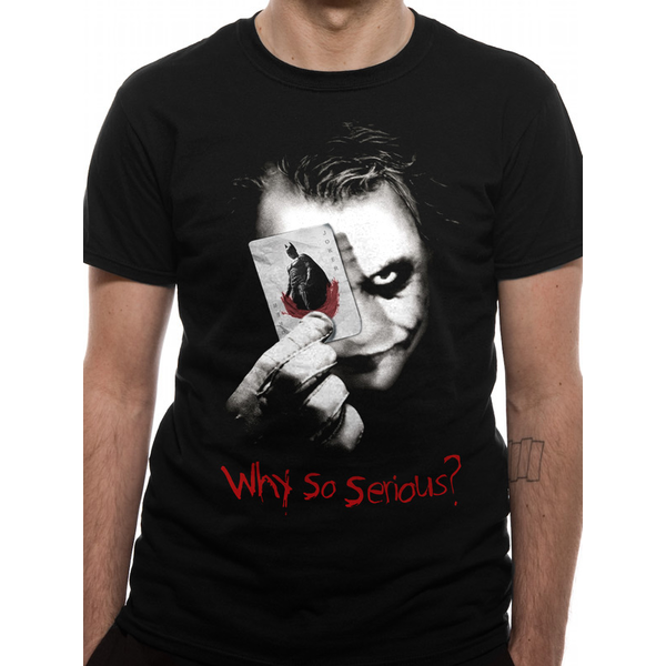 Batman: The Dark Knight - Why So Serious Men's Large T-Shirt - Black