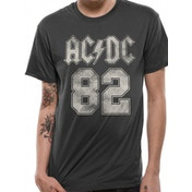 ACDC - 82 College Men's Small T-shirt - Grey