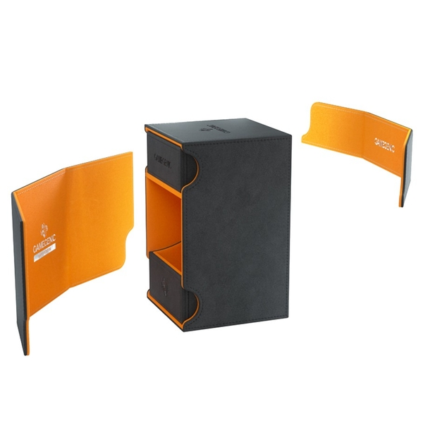 Gamegenic Watchtower 100+ XL Deck Box - Black & Orange