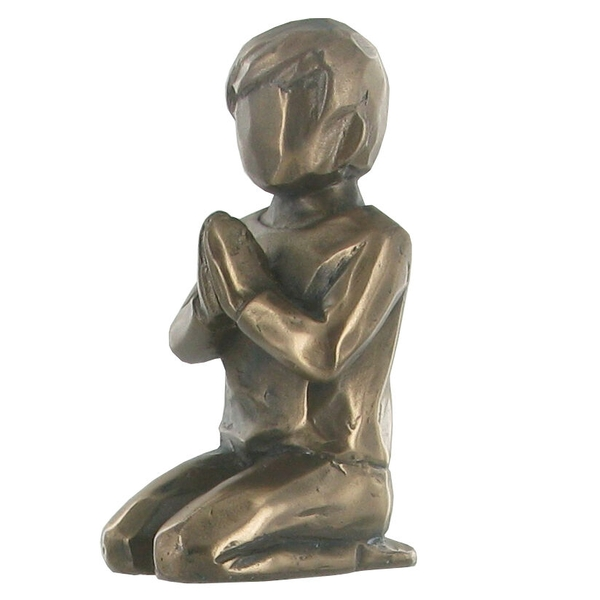Praying Boy Cold Cast Bronze Sculpture 7cm