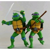 Leonardo and Donatello (TMNT Season 2) Pack of 2 Neca Action Figure