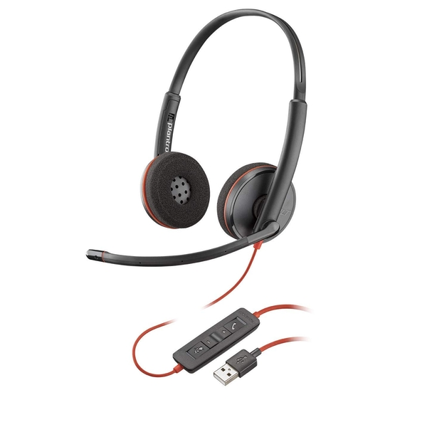 Plantronics Blackwire 3200 Stereo Corded UC Headset With USB Connectivity