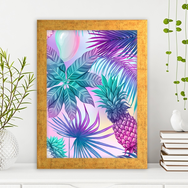 AC13055115041 Multicolor Decorative Framed MDF Painting