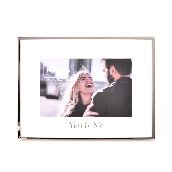 """Moments Silver with Mount Photo Frame 6"""" x 4"""" - You & Me"""