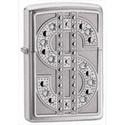 Zippo Bling Emble High Polish Chrome Windproof Lighter