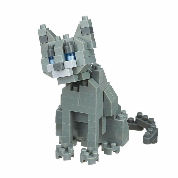 Russian Blue Cat (Nanoblocks) Figure
