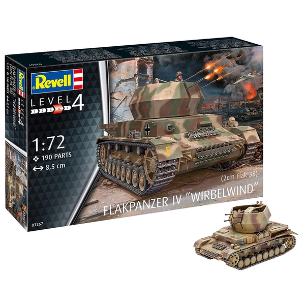 Flakpanzer IV Wirbelwind 1:72 Revell Model Kit