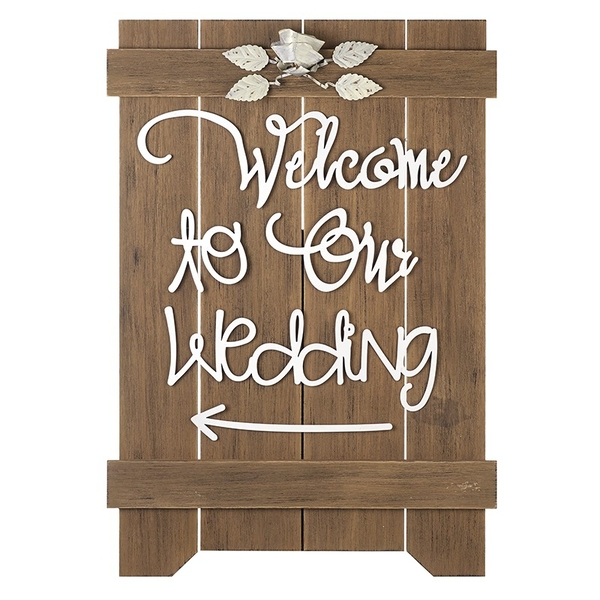 Welcome To The Wedding Sign By Heaven Sends