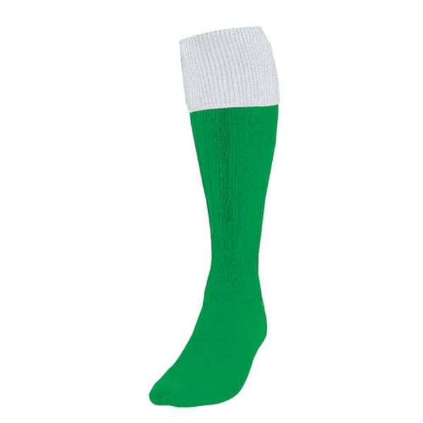 Precision Turnover Football Socks Emerald/White UK Size 7-11
