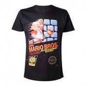 Nintendo Super Mario Bros. Classic NES Games Case Large T-Shirt - Black