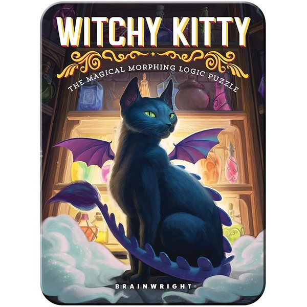 Witchy Kitty Puzzle Card Game
