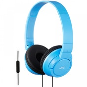 JVC HASR185AN Powerful Bass Headphones with Remote Mic Blue