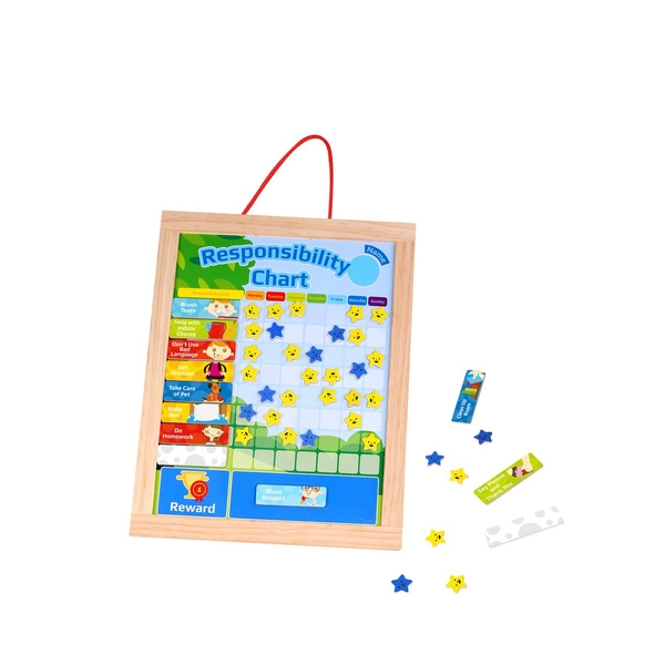 Wooden Responsibility Learning Chart