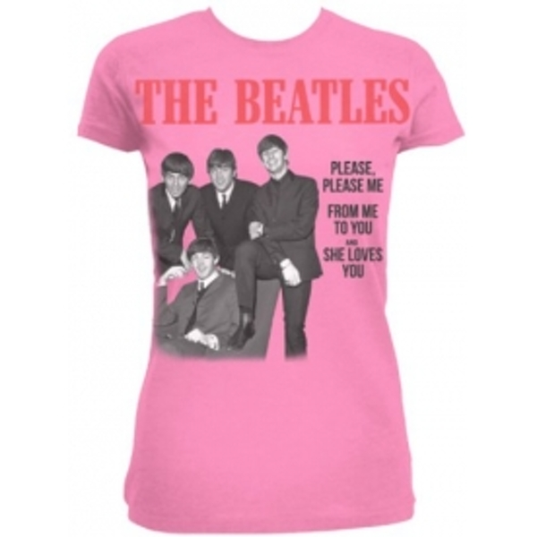 The Beatles Please Please Me Pink Ladies TS: Small