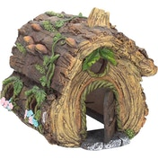 Hollow Log House Fairy Ornament