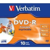 Verbatim DVD-R Wide Inkjet Printable ID Brand 4.7GB DVD-R 10pc(s)