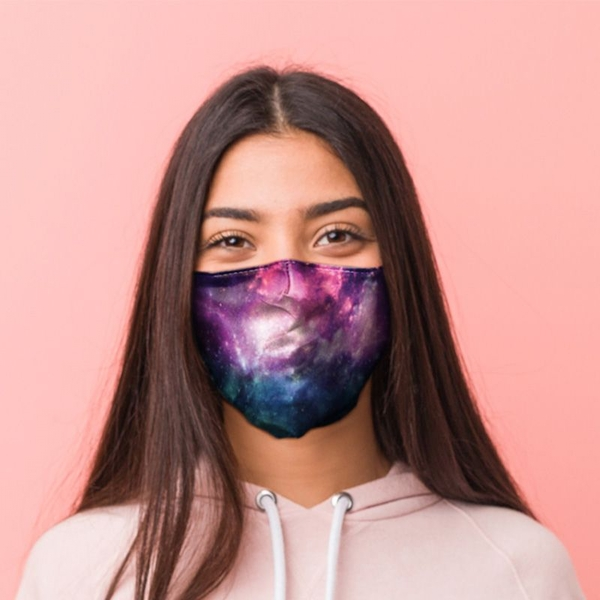 Star Gazing Starry Night Face Covering - Large