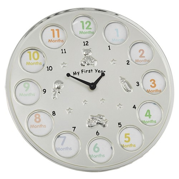 Two Tone My First Year Clock