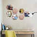 8 Pack Cork Board with Pins Hexagon Cork Board with Pins - Pack of 8 | Pukkr - Image 2