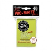 Ultra Pro Matte Small Bright Yellow 60 Sleeves DPD - 10 Packs