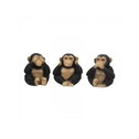Three Wise Chimps Monkey Statues