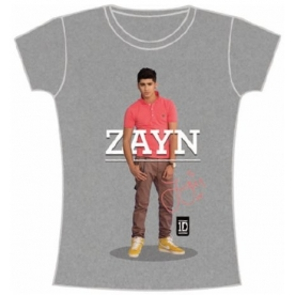 One Direction Zayn Standing Pose Skinny Grey TS: Small