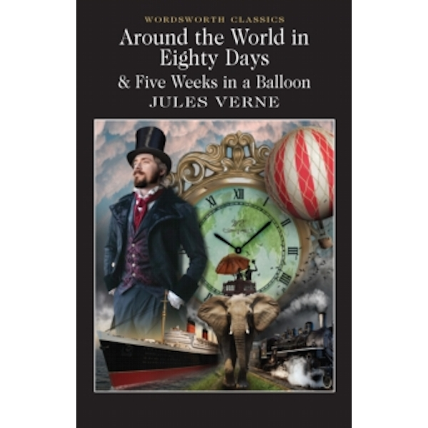 Around the World in 80 Days / Five Weeks in a Balloon by Jules Verne (Paperback, 1994)