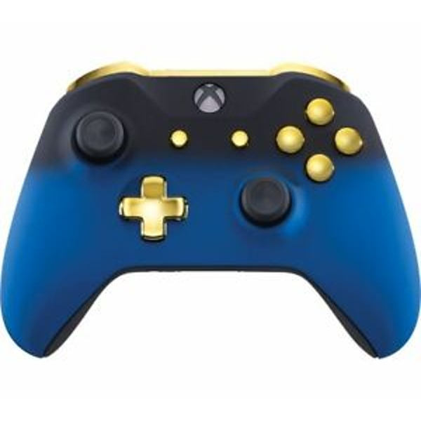 Blue Shadow & Gold Xbox One Controller